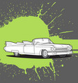 retro car on a dark background vector image vector image