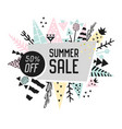 sale promotional banner with abstract elements vector image vector image