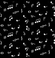 seamless pattern with music notes symbols black vector image vector image