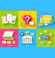 set of social business life design vector image vector image