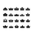 sign symbol icon crown vector image vector image