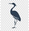 silhouette heron stork bird black vector image vector image