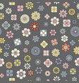 simple flat flower pattern vector image vector image