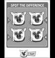 spot the difference black scorpio vector image vector image