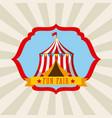 tent amusement fun fair theme park poster vector image vector image