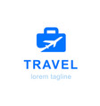 travel logo company logo design vector image