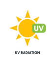 uv radiation sign vector image vector image