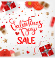 valentines day saleconcept banner with different vector image vector image