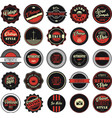 vintage labels black and red set vector image vector image