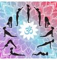 yoga set surya namaskar vector image vector image