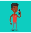Young man drinking soda vector image vector image