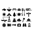 Camping and Camp Food Icon Set vector image