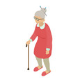 grandmother icon isometric 3d style vector image