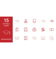 15 knowledge icons vector image vector image