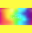 abstract bright rainbow color smooth blurred vector image vector image