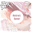 abstraction banner in shades of pink colors vector image vector image
