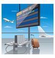 airport departure vector image vector image