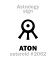 astrology asteroid aton vector image vector image