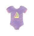 Baby suit clothes vector image vector image