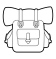 Backpack for travel icon outline style vector image
