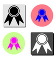 Badge with ribbons flat icon