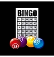 bingo casino game icon vector image vector image
