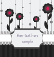 black white and pink card vector image vector image