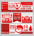 blood donation design for world donor day vector image vector image