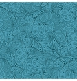 Blue abstract floral seamless pattern vector image