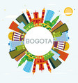 bogota colombia city skyline with color buildings vector image vector image