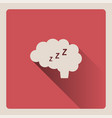 brain thinking in sleep on red background with vector image vector image