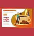 cafe coffee bar and coffeehouse site web banner vector image vector image