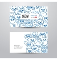 Cats card template vector image vector image