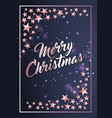 christmas poster card template with stars border vector image vector image