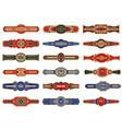 cigar badges vintage labels set template vector image vector image