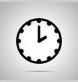 clock face showing 2-00 simple black icon on vector image vector image