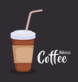 coffee in plastic container vector image