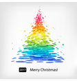 Colored Christmas tree vector image vector image