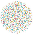 colorful random spray background made from vector image vector image