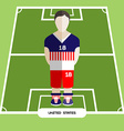 Computer game United States Soccer club player vector image vector image