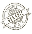 doodle package label organic vector image vector image