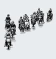 drawing motorcycles struck at traffic vector image vector image