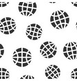 earth planet icon seamless pattern background vector image vector image