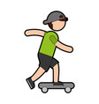 Ethlete practicing skete board avatar vector image