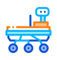 exploration mars rover icon outline vector image