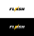 Flash lightning logo vector image