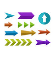 flat arrows set vector image
