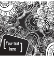 floral black and white background vector image vector image