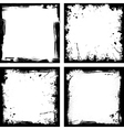 Four black frames vector image vector image