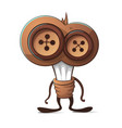 funny cute bulb button characters vector image